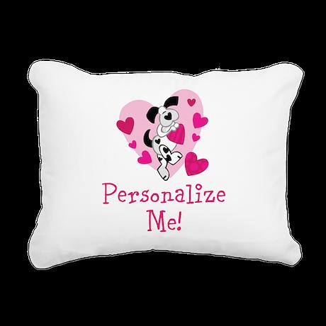Valentine Puppy Rectangular Canvas Pillow