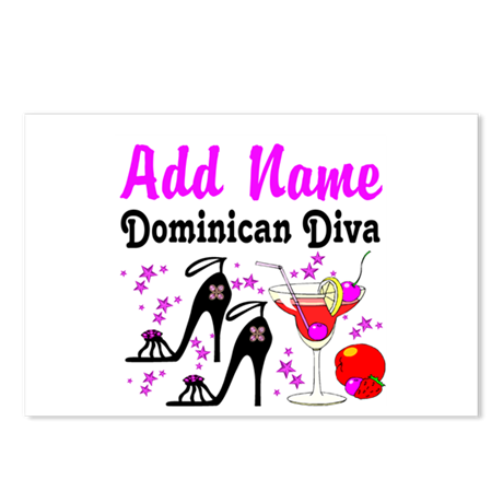 DOMINICAN DIVA Postcards (Package of 8)