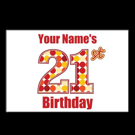 Happy 21st Birthday - Personalized! Postcards (Pac