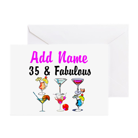 HAPPY 35TH BIRTHDAY Greeting Cards (Pk of 10)