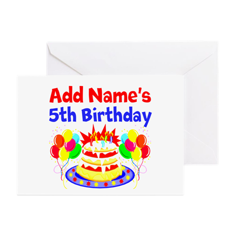 HAPPY 5TH BIRTHDAY Greeting Cards (Pk of 10)
