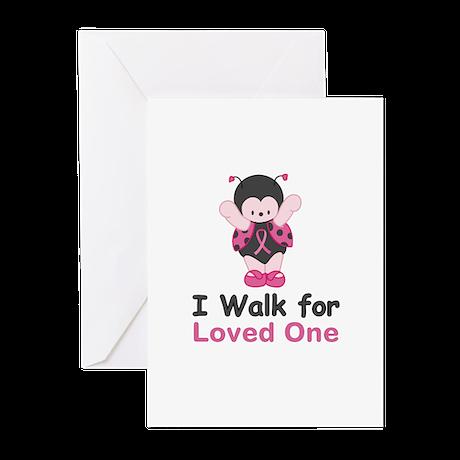 Walk For Ladybug Greeting Cards (Pk of 10)