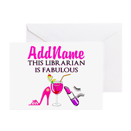 LIBRARIAN DIVA Greeting Cards (Pk of 10)