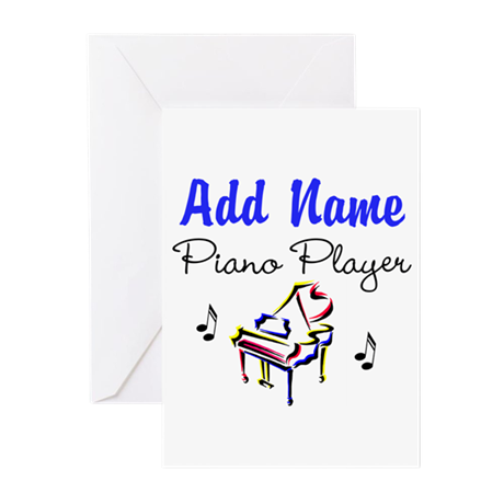 PIANO PLAYER Greeting Cards (Pk of 10)