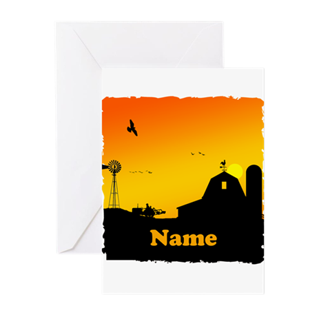 Sunrise at the Farm Greeting Cards (Pk of 10)