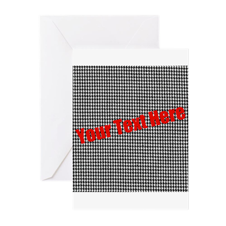 Custom Houndstooth Greeting Cards (Pk of 10)