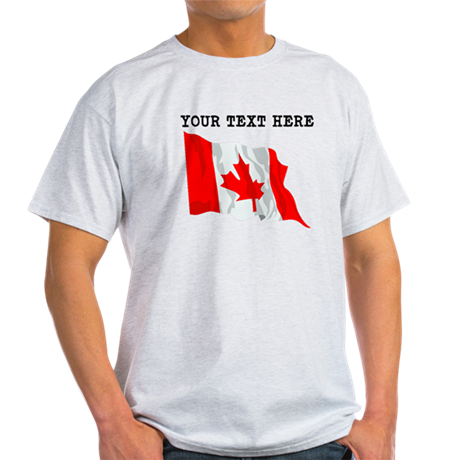 Custom canada flag t shirt by customworldflags for Personalized t shirts canada