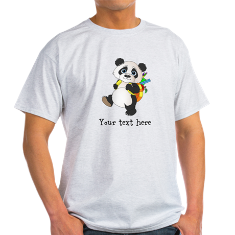 Personalize It - Panda Bear backpack Light T-Shirt