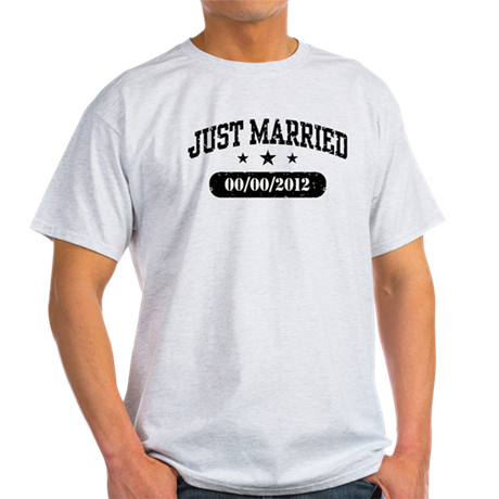 Just Married (add wedding date) Light T-Shirt