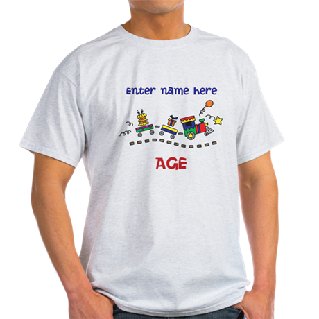 Personalized Birthday Train Light T-Shirt