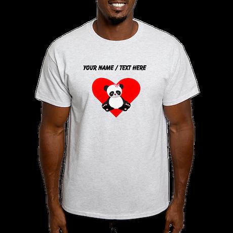 Custom Girl Panda Heart T-Shirt