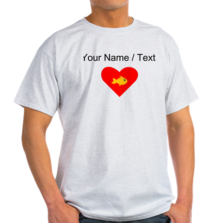 Cartoon Fish Heart T-Shirt