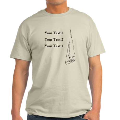 Sail boat and custom text t shirt by metarla2 for Custom boat t shirts