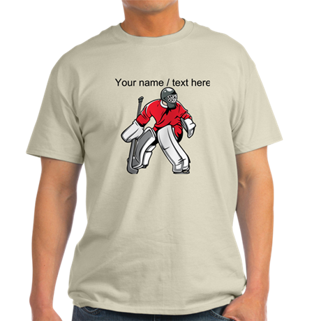 custom hockey goalie t shirt by customsportsgifts