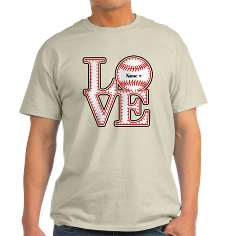 Personalized front and back love baseball t shirt by for Custom photo t shirts front and back