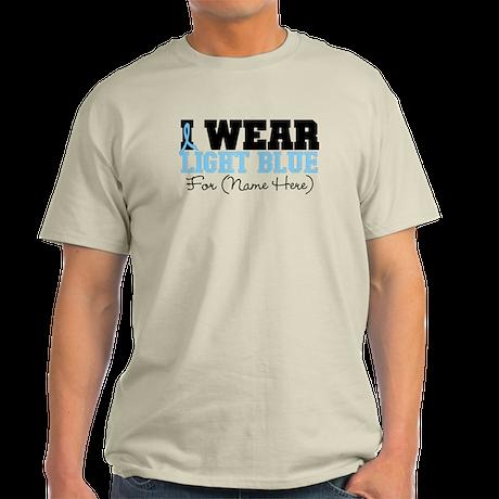 Custom Prostate Cancer Light T-Shirt