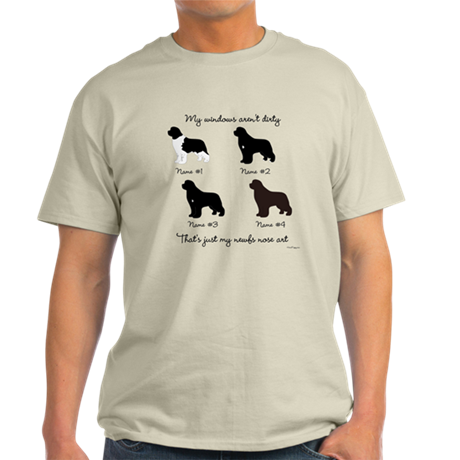 4 Newfoundlands Light T-Shirt