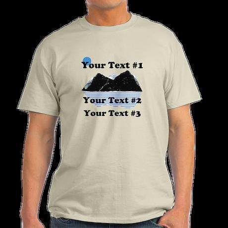 Customize Your Text Light T-Shirt