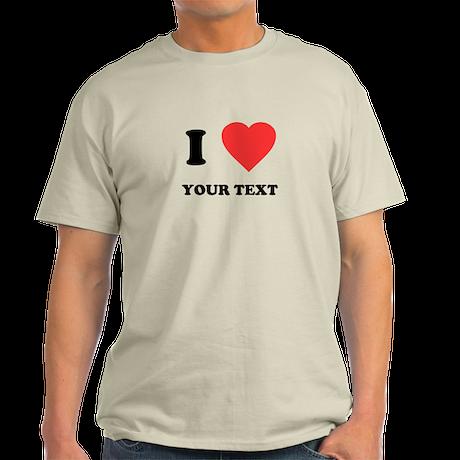 Custom I Heart Light T-Shirt