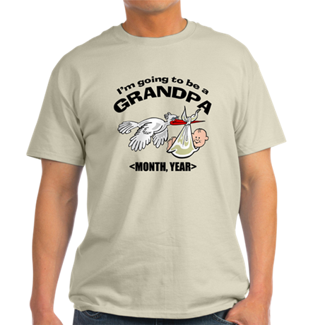 Funny Grandpa To Be Personalized Light T-Shirt