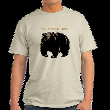 Big Bear with Custom Text. Light T-Shirt