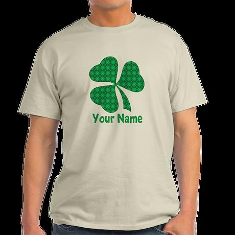 Personalized Irish Shamrock Light T-Shirt