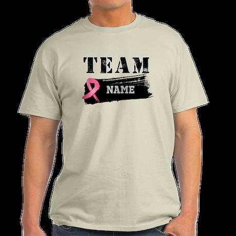 Team Breast Cancer Name Light T-Shirt