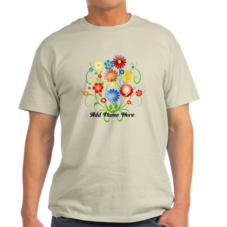 Personalized floral light Light T-Shirt