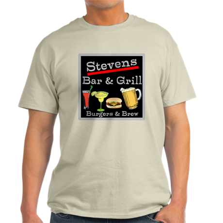 Personalized Bar and Grill Light T-Shirt
