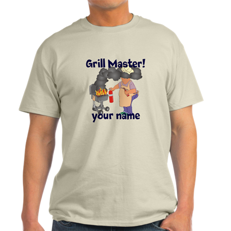 Personalized Grill Master Light T-Shirt