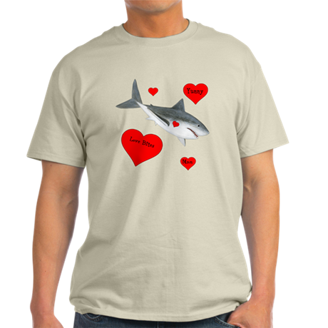 Personalized Shark Valentine Light T-Shirt