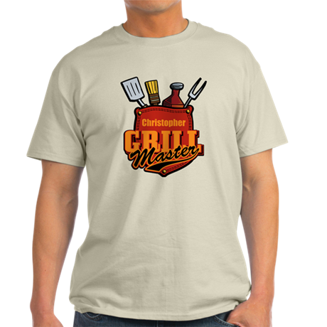 Pocket Grill Master Personalized Light T-Shirt