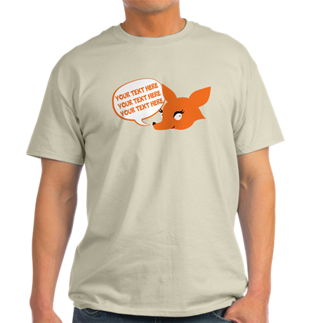 CUSTOM TEXT Cute Fox T-Shirt