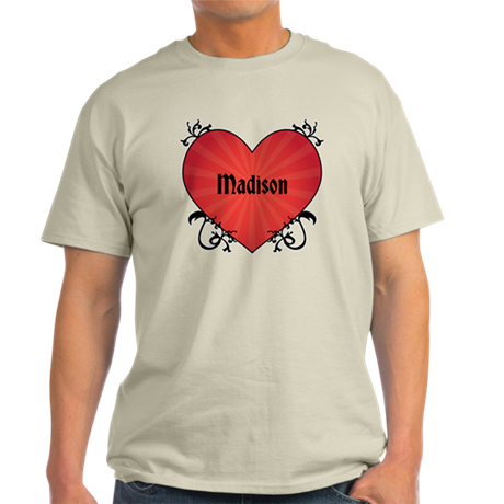 Custom Name Tattoo Heart Light T-Shirt