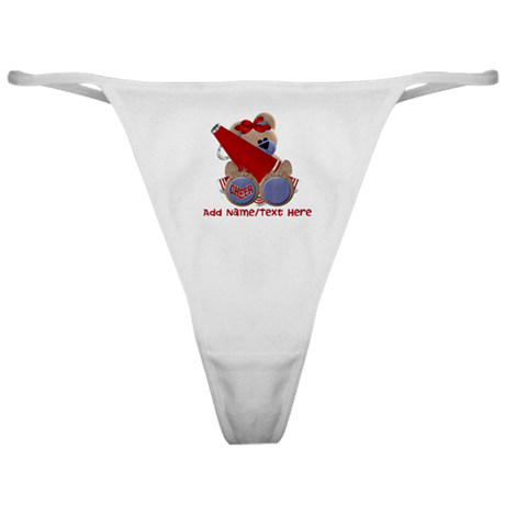Teddy Cheerleader (red) Classic Thong