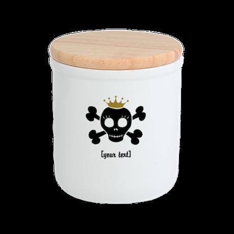 [Your text] Princess Skull Cookie Jar
