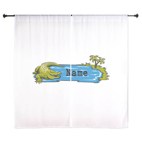 "Personalized Alligator 60"" Curtains"