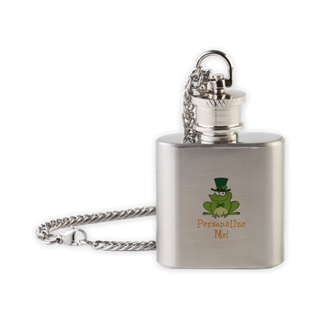 Leprechaun Frog Flask Necklace
