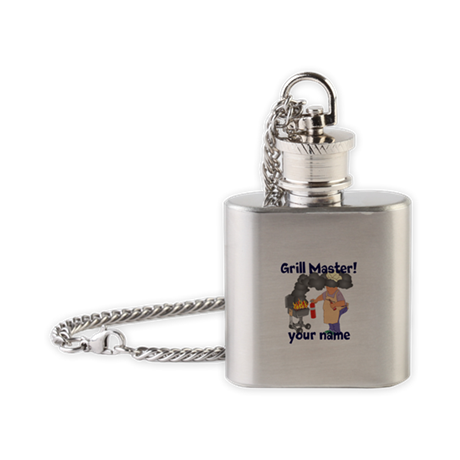 Personalized Grill Master Flask Necklace