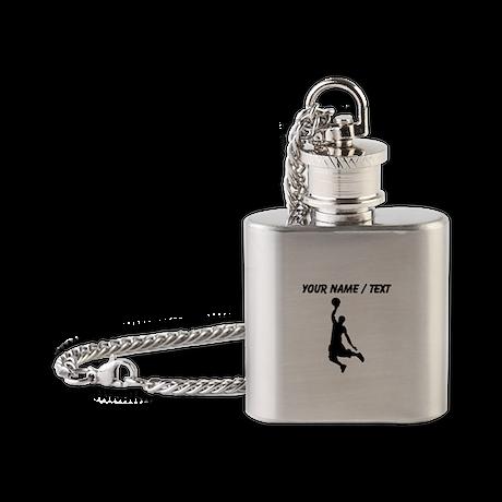 Custom Black Basketball Dunk Silhouette Flask Neck