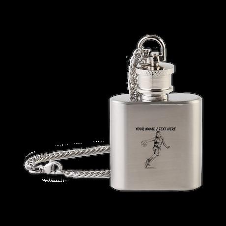 Custom Female Basketball Player Flask Necklace