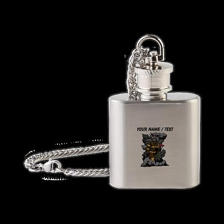 Custom Firefighter In Smoke Flask Necklace