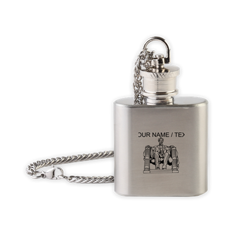 Custom Lincoln Memorial Flask Necklace