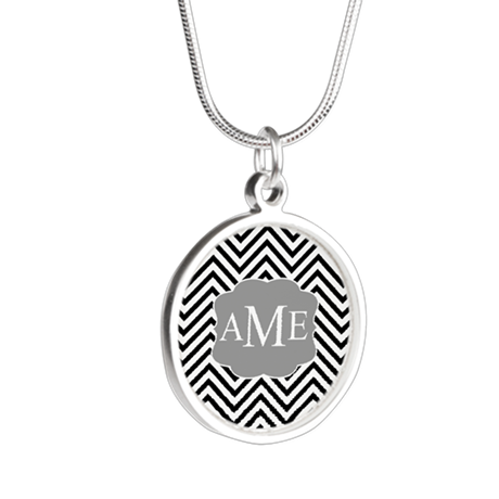 Thin Chevrons Black... Necklaces