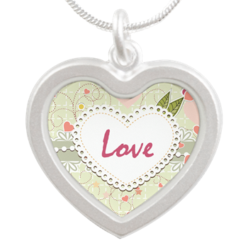 heart shaped love necklace