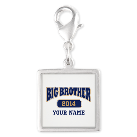 Personalized Big Brother Silver Square Charm