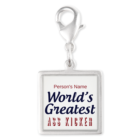 Worlds Greatest Personal Trainer Silver Square Cha