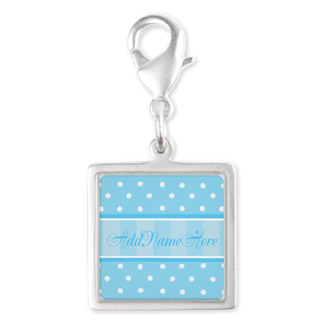 New Baby Boy Silver Square Charm