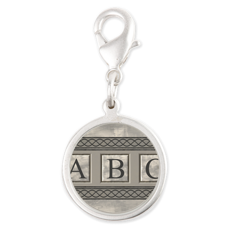 Personalizable Marble Monogram Charms