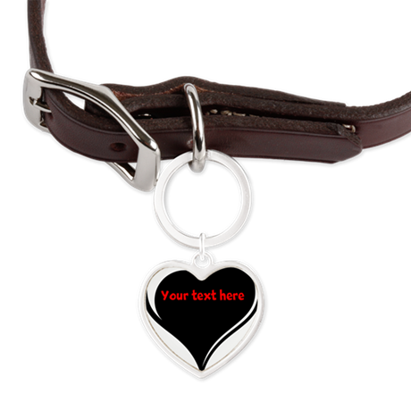 Customizable Heart Large Heart Pet Tag
